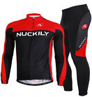 R&BL Men Long Sleeve Cycling Polyester +Coolmax Jersey and Pant Wear Size M-XXL