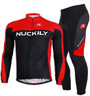 Men's Cycling long Sleeve Jersey Pantsuit Sportswear Set Legging Racing clothes