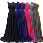 US FAST One Shoulder Long GRADUATION Prom Dresses Bridesmaid Party Evening Gowns