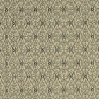 A483 Green and Beige Waves Lines and Foliage Upholstery Fabric