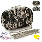 Ladies Rhinestone Evening Clutch Party Wedding Bridal Bag Handbag Shoulder Bag