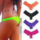 Womens V Shape Triangle Thong Bikini Bottom Sexy Brazilian Underwear G-Strings