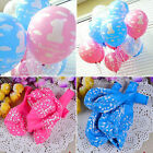 20 Baby Girl Boy 1st Cloud Birthday Balloon Number 1 Year Old Party Decoration