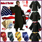 Free Tie Harry Potter Gryffindor/Slytherin/Hufflepuff/Ravenclaw Robe  Cloak Cape