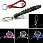 1 pcs New Fashion Womens Mens BV Braided Leather Tag Keychain Car Keyring PHNG