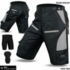 Cycling MTB Short Off Road Cycle Coolmax Padded Liner Shorts Grey Size M, L, XL