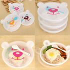 Bear Plastic Bento Lunch Box Meal Kids Food Container Storage Case Free Spoon