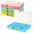 Handy Plastic Storage Box Bits Bobs Sewing Junk Jewellery Loose Items Container