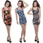 Women's fashion Petite Floral Sleeveless Sexy Wrapped Slim Package Hip Dress
