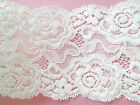 """NEW~Exquisite FRENCH Ivory Stretch Lace 3.5""""/9 cm Wedding/Card/Lingerie/Garter"""