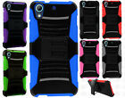 For HTC Desire 626 Hybrid Combo Holster KICKSTAND Rubber Case +Screen Protector