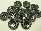 New Black / silver etched design buttons sizes 1in 13/16 5/8 & blazer sets #P14