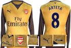 *15 / 16 - PUMA ; ARSENAL AWAY SHIRT LS / ARTETA 8 = SIZE*