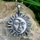 Sun Moon Face Faces Eclipse Gypsy Tarot Astrology Psychic Pagan Pewter Pendant