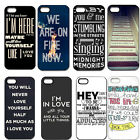 Best New Design One Direction Quotes Hard Case Cover For iPhone 4/4S 5/5G/5S 5C