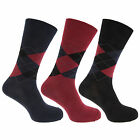 Mens Pierre Roche Non Elastic Top Argyle Ankle Socks UK6-11 3 Pairs Style 40B344