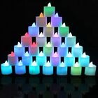 LED Lighted Flickering Votive Candles White Flameless Candles