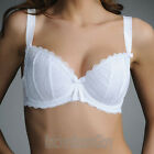 Fauve Lingerie Maya Padded Half Cup Bra White 0271 NEW Select Size