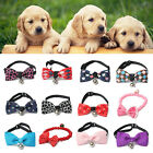 Pets Dog Puppy Cat Bow Collars With Bells Tie Necktie Bead Bowknot Polyester