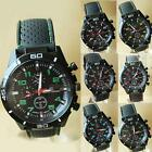 Men's Fashion Black Stainless Steel Luxury Sport Analog Quartz Wrist Watch PHNG