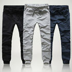 Men's Casual Slim Pants Training Joggers Sweat Pants Gym Sports Long Trousers