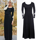 Women Autumn Long Sleeve Lace Crochet Long Maxi Dress Evening Party Prom Dress