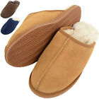 Mens Sheepskin Mules / Sippers with Man Made Sole