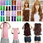 New Long Thick One Piece Straight Curly Corn Wavy Clip in Hair Extensions fo20