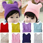 Unisex Infant Baby Boy Girl Toddler Crochet Knit  Hats Horns Beanie Caps Winter