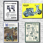 Vespa Scooter Art Canvas Print - Mod Lambretta Vintage Cool Retro Decor Soul