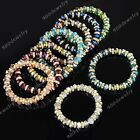 1pc Crystal Glass Gem Facted Spacer Bead Bracelet Bangle Women Jewelry Fashion