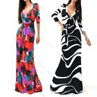 Ladies Maxi Dress Long Womens Summer Floral Holiday Maternity Pregant Dress Plus