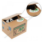 Cute Cat Panda Automated Stealing Coin Money Piggy Bank Storage Saving Box DE