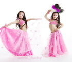 New Cute Kid's Belly Dance Costume 2 Pics Blouse Top&Tutu Skirt Size S/L 4 color