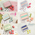 Rubber Stamps Animal Cat Bird Tin Box Set Six styles Jewelery Fairy Ballerina UK