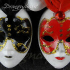 Venetian Masquerade Feather Masked Ball Carnival Party Mask Mini Fridge Magnet