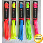 10-Seconds Shoe Laces Sneaker High Top Neon Bright Blue Pink Yellow 36 45 54 63""