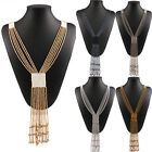 New Fashion Women Bohemia Long Beaded Tassel Pendant Sweater Statement Necklace
