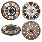 Shabby Chic Large 50cm Color Wheel Thin Rustic Wall Clock Arabic Numerals