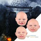 Latex Disgusted Happy Cry Baby Costume Halloween Full Head  Party Masks Costume