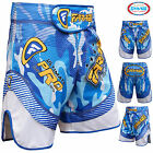 Farabi MMA Shorts Grappling Cage Fight Training Match Kick Boxing Blue