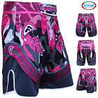 Farabi MMA Shorts Grappling Cage Fight Female Training Match Kick Boxing Pink