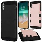 For Alcatel OneTouch Conquest IMPACT TUFF HYBRID Case Skin Cover + Screen Guard