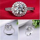 Silver Plated cubic zirconia New Wholesale Jewelry Wedding Ring size 5-10