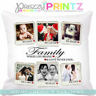 ❤ PERSONALISED PHOTO COLLAGE CUSHION CHRISTMAS WEDDING ANNIVERSARY GIFT FAMILY ❤