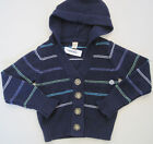 OLD NAVY Girl's Navy Blue Striped Hooded Cardigan Sweater NWT
