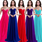 1 Wedding Bridesmaid Elegant Evening Party Formal Prom Long Gown Strapless Dress