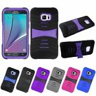For Samsung Galaxy S6 Edge + Plus Rugged Shockproof Hybrid Hard Stand Case Cover