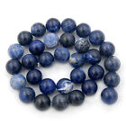 """4mm 6mm 8mm 10mm 12mm Natural Sodalite Gemstone Round Spacer Loose Beads 15.5"""""""
