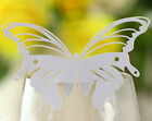 Pearlescent butterfly wedding party place mark wine glass cards table name card